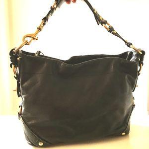 Black Leather Coach Bag  M0793-10615